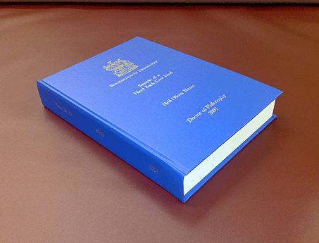 University kent dissertation binding